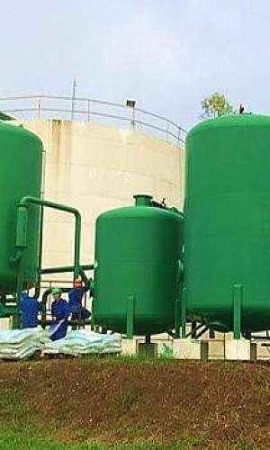 Estação de tratamento de efluentes industriais