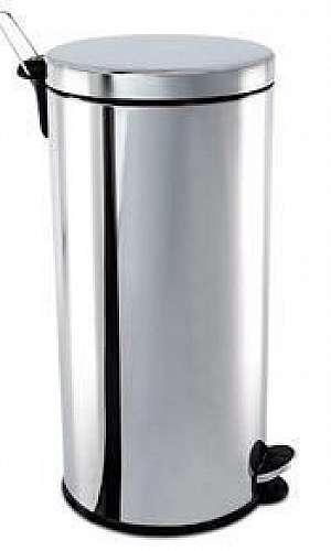 Lixeira inox 30 litros