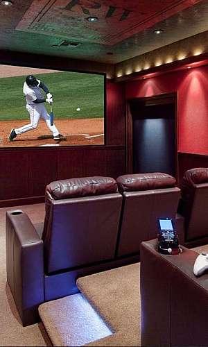 Sala de cinema residencial